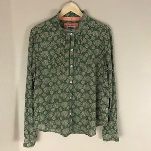 Anthropologie Holding Horses Shirt Green 12 Boho